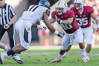STANFORD, CA - NOVEMBER 23, 2013: Joe Hemschoot  during Stanford's game against Cal. The Cardinal defeated the Bears 63-13.