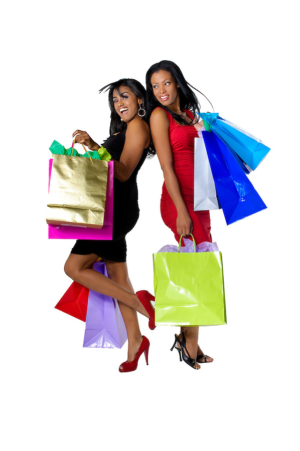 Young hispanic descendent womens going out for shopping with very happy attitude.