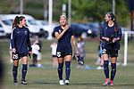CARY, NC - APRIL 08: Courage's Jaelene Hinkle  (15), Samantha Witteman (26), and Ashley Hatch (12). The NWSL's North Carolina Courage played a preseason game against the University of North Carolina Tar Heels on April 8, 2017, at WakeMed Soccer Park Field 3 in Cary, NC. The Courage won the match 1-0.