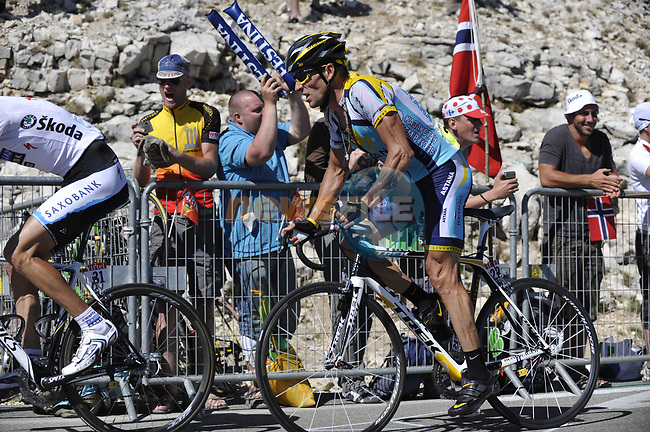 Lance Armstrong (USA) Astana close to the finish of Mont Ventoux during Stage19 of the Tour de France 2009 running 167km from Montelimar to Mont Ventoux, France. 25th July 2009 (Photo by Eoin Clarke/NEWSFILE)