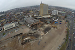 Aerial view of the demolished Capital Car Park in Newport.<br /> <br /> 12.01.14<br /> &copy;Steve Pope-FOTOWALES