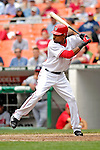 17 May 2007: Washington Nationals outfielder Nook Logan at bat against the Atlanta Braves at RFK Stadium in Washington, DC. The Nationals defeated the Braves 4-3 to take the four-game series three games to one...Mandatory Photo Credit: Ed Wolfstein Photo