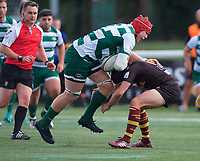 Kieran Murphy of Ealing Trailfinders during the RFU Championship Cup match between Ealing Trailfinders and Ampthill RUFC at Castle Bar , West Ealing , England  on 28 September 2019. Photo by Alan  Stanford / PRiME Media Images