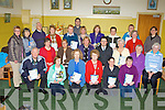 Receiving certificates for completing the South Kerry Development Partnership/Sean Chairde/Kerry Flyer bus assistance course in Keel Community Center on Friday was front row l-r: Donal Clifford, Bridie Murphy, Cate White, Mary F O'Connor, Kathrina Sheehan, Mary O'Connor. Middle row: Nicola Lawless Kerry Flyer, Sheila Casey SKDP Social Inclusion Group Chairperson, Maura Fitzgerald Sean Chairde Chairperson, Noel Spillane SKDP Chairperson, Eileen McGillicuddy Sean Chairde, Margaret Sweeney, Elaine Scully. Back row: Ann Clifford, Peggy O'Neill, Paul O'Raw, Mary Casey, Gareth Lawless Training coordinator, Nora O'Mahony, Brenda Courtney, Kay Darmody, Joan Curran, Mary O'Regan, Barbara McDonald and Noreen Curran....