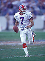 Buffalo BIlls Doug Flutie (7) during a game against the Baltimore Ravens at PSINet Stadium in Baltimore, Maryland. The Bill beat the Ravens 13-10. Doug Flutie  played for 13 years with 4 teams and was a 1-time Pro Bowler.