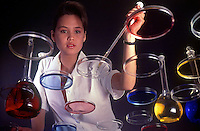 Girl working in an oil refinery Laboratory, manila, Philippines