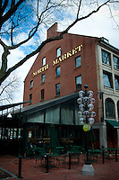 North market building in Quincy market, Boston, MA