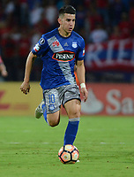 MEDELLIN - COLOMBIA: 16 - 05 - 2017: Fernando Gaibor, jugador de Emelec, en acción durante partido de la fase de grupos, grupo 3, fecha 5 entre Deportivo Independiente Medellin de Colombia y Emelec de Ecuador por la Copa  Conmebol Libertadores Bridgestone 2017 en el Estadio Atanasio Girardot, de la ciudad de Medellin. / Fernando Gaibor, player of Emelec in action during a match for the group stage, group 3 of the date 5th, between Deportivo Independiente Medellin of Colombia and Emelec de Ecuador por la CopaEmelec of Ecuador for the Conmebol Libertadores Bridgestone Cup 2017, at the Atanasio Girardot, Stadium, in Medellin city. Photos: VizzorImage / Leon Monsalve / Cont.
