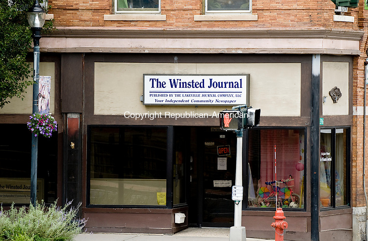 WINSTED, CT-0731117JS01-- The Winsted Journal office on Main Street in Winsted. <br /> Jim Shannon Republican-American