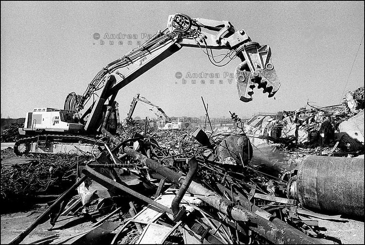 Milano, demolizioni case.<br /> Milan, houses demolition.