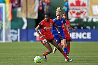 Portland, Oregon - Sunday May 29, 2016: Portland Thorns FC forward Shade Pratt (29). The Portland Thorns play the Seattle Reign during a regular season NWSL match at Providence Park.