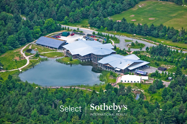 Todd Bissonette photo.  Aerial photo of the Wild Center in Tupper Lake, New York.  (Photo/Todd Bissonette)