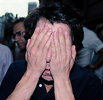 Dustin Hoffman<br /> ( Hiding his face After taking off his MakeUp Drag as Dorothy Michaels )<br /> On the set filming TOOTSIE,  Fifth Avenue in New York City.<br /> June 9, 1982<br /> © Walter McBride / Retna Ltd.