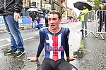 Brandon McNulty of United States of America after finishing the Men's Under 23 Individual Time Trial of the UCI World Championships 2019 running 30.3km from Ripon to Harrogate, England. 24th September 2019.<br /> Picture: Simon Wilkinson/SWPix.com | Cyclefile<br /> <br /> All photos usage must carry mandatory copyright credit (© Cyclefile | Simon Wilkinson/SWPix.com)
