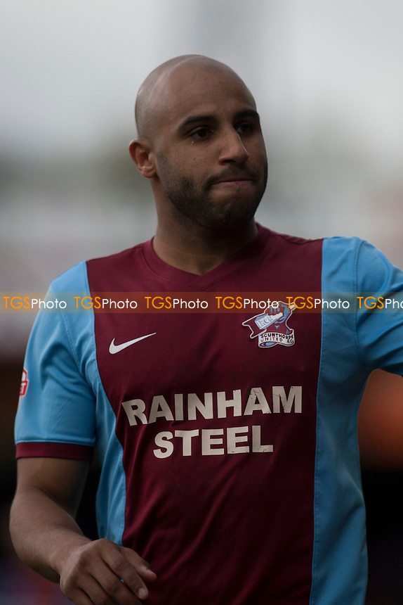 Marcus Williams of Scunthorpe United<br /> - Scunthorpe United vs Gillingham - Sky Bet League One Football at Glanford Park, Scunthorpe, Lincolnshire - 25/04/15 - MANDATORY CREDIT: Mark Hodsman/TGSPHOTO - Self billing applies where appropriate - contact@tgsphoto.co.uk - NO UNPAID USE