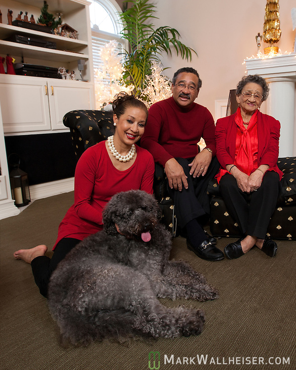 The John and Jane Marks family at their home Christmas Eve 2011.