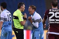 Refree Massimiliano Irrati cautioned Lucas Leiva Lazio<br /> Roma 29-12-2018 Stadio Olimpico<br /> Football Calcio Campionato Serie A<br /> 2018/2019 <br /> Lazio - Torino<br /> Foto Antonietta Baldassarre / Insidefoto