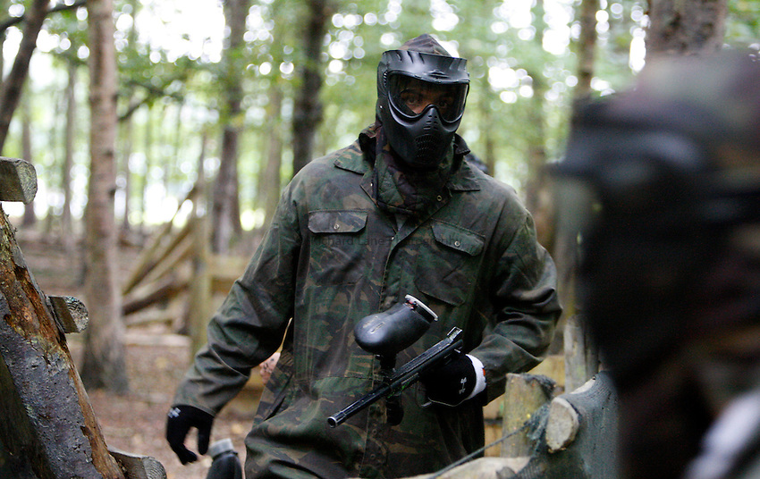 Photo:Richard Lane/Richard Lane Photography. London Wasps team visit Maidenhead Paintball. 20/09/2011. Tom Varndell.