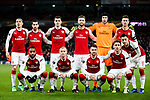Arsenal team during the UEFA Europa League Quarter-Final 1st leg match at the Emirates Stadium, London. Picture date 5th April 2018. Picture credit should read: Charlie Forgham-Bailey/Sportimage