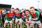 Sean O'Leary, Damiin O'Leary, Noel duggan,Matt Keane and William Maher celebrate Kilcummin wim