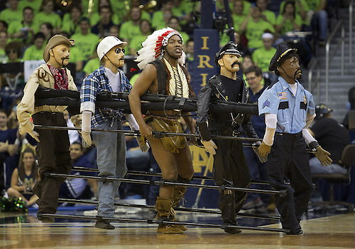 January 26, 2013:  The Amazing Christopher performs at halftime of NCAA Basketball game action between the Notre Dame Fighting Irish and the Providence Friars at Purcell Pavilion at the Joyce Center in South Bend, Indiana.  Notre Dame defeated Providence 89-44.