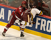 Tyler Moy (Harvard - 2), Neal Pionk (UMD - 4) - The University of Minnesota Duluth Bulldogs defeated the Harvard University Crimson 2-1 in their Frozen Four semi-final on April 6, 2017, at the United Center in Chicago, Illinois.