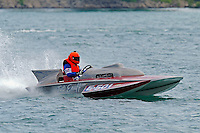 "E-501 ""Just Enuff"", 280 class hydroplane..10-12 July, 2009, 100th Gold Cup, Detroit River, Detroit, MI USA..©2009 F.Peirce Williams, USA."