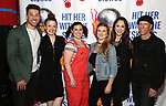 """Ace Young, Christine Rea, Amy Toporek, Madeline Fansler, Diana DeGarmo and Rick Briskin attend the Meet the Cast of """"Hit Her WithThe Skates"""" at the Bowlmor Times Square on October 16, 2018 in New York City."""