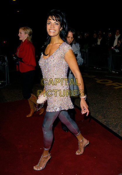 "JENNY POWELL.Arrives at ""An Audience With Take That"".at The London Television Studios,.London, England, December 2nd 2006..full length silver leggings top dress.CAP/CAN.©Can Nguyen/Capital Pictures"