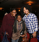 Jennie Harney with Cast members of 'The Color Purple' host a meet and greet with kids from PAL at The Jacobs Theatre on December 7, 2016 in New York City.