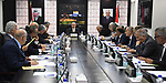 Palestinian Prime Minister Mohammad Ishtayeh chairs the weekly meeting of his government, in the West Bank city of Ramallah, June 17, 2019. Photo by Prime Minister Office