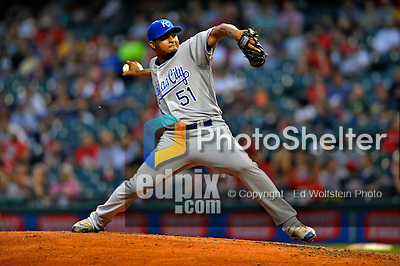 13 September 2008: Kansas City Royals' pitcher Robinson Tejeda on the mound against the Cleveland Indians at Progressive Field in Cleveland, Ohio. The Royals defeated the Indians 8-4 in the second game, sweeping their double-header...Mandatory Photo Credit: Ed Wolfstein Photo