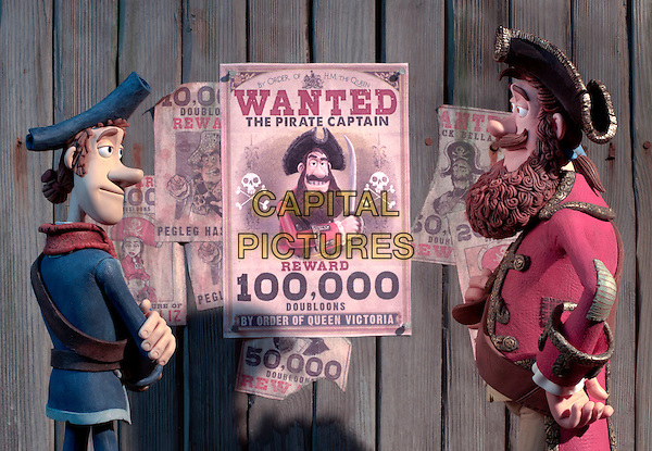 SCENE - Pirate with a Scarf (voiced by Martin Freeman) and Pirate Captain (voiced by Hugh Grant).in The Pirates! In an Adventure with Scientists! (The Pirates! Band of Misfits).*Filmstill - Editorial Use Only*.CAP/FB.Supplied by Capital Pictures.
