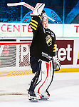 Stockholm 2014-09-27 Ishockey Hockeyallsvenskan AIK - Mora IK :  <br /> AIK:s m&aring;lvakt Christian Engstrand <br /> (Foto: Kenta J&ouml;nsson) Nyckelord:  AIK Gnaget Hockeyallsvenskan Allsvenskan Hovet Johanneshovs Isstadion Mora MIK  portr&auml;tt portrait