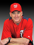 25 February 2011: John Philbin, Stength and Conditioning Coach for the Washington Nationals, poses for his portrait on Photo Day at Space Coast Stadium in Viera, Florida. Mandatory Credit: Ed Wolfstein Photo