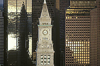 Customs House Tower, aerial, Boston, MA