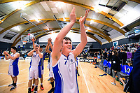 St Kent's captain Alex McNaught thanks fans after the 2019 Schick AA Boys' Secondary Schools Basketball National Championship final between St Kentigern and Rosmini College at the Central Energy Trust Arena in Palmerston North, New Zealand on Saturday, 5 October 2019. Photo: Dave Lintott / lintottphoto.co.nz