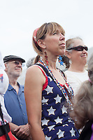 Angie Santiago of Durham, N.C. during the ninth Moral Monday protest at the North Carolina State Legislature in Raleigh, July 1, 2013.