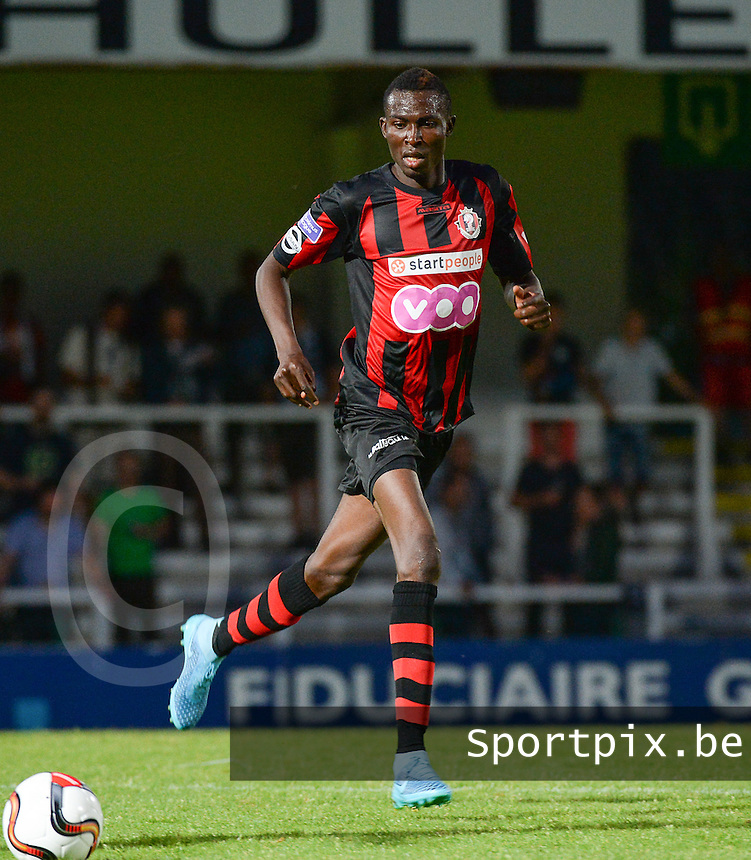 20150807 - ROESELARE, BELGIUM: Seraing's Kwame Nsor pictured during the Proximus League match between KSV Roeselare and RFC Seraing , in Roeselare , Friday 7 August 2015, on the 1st day of the Belgian second division soccer championship. PHOTO DAVID CATRY