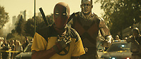 DEADPOOL 2 (2018)<br /> Deadpool (Ryan Reynolds) and Colossus<br /> *Filmstill - Editorial Use Only*<br /> CAP/FB<br /> Image supplied by Capital Pictures
