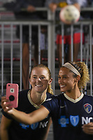 Boyds, MD - Wednesday August 30, 2017: Samantha Mewis, Jessica McDonald during a regular season National Women's Soccer League (NWSL) match between the Washington Spirit and the North Carolina Courage at Maureen Hendricks Field, Maryland SoccerPlex.