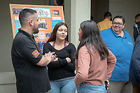 "Upward Bound hosts their annual ""End of the Year"" celebration with participants and their families on May 12, 2018 in the courtyard of Booth Hall. Jimmy Gomez, U.S. Representative for California's 34th congressional district, was the featured speaker at the event.<br /> Upward Bound was established at Occidental College in 1966 and has since served over 2000 first generation, low income students in the Los Angeles region.<br /> (Photo by Marc Campos, Occidental College Photographer)"