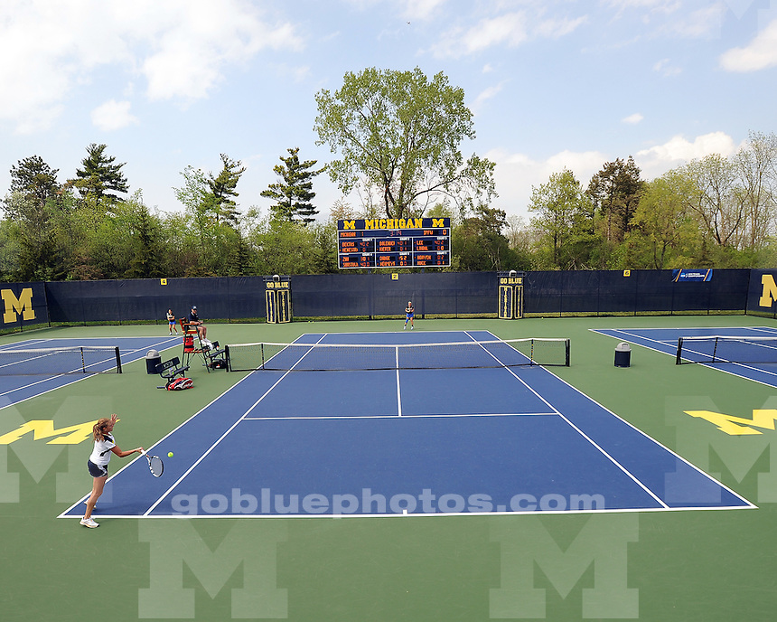 The University of Michigan women's tennis team beat IPFW, 4-0, in the first round of the NCAA Regional the Varsity Tennis Center in Ann Arbor, Mich., on May 10, 2013.