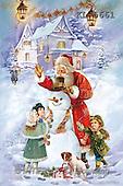 Interlitho, Patricia, CHRISTMAS SANTA, SNOWMAN, nostalgic, paintings, santa, snowman, kids(KL5661,#X#) Weihnachten, nostalgisch, Navidad, nostálgico, illustrations, pinturas