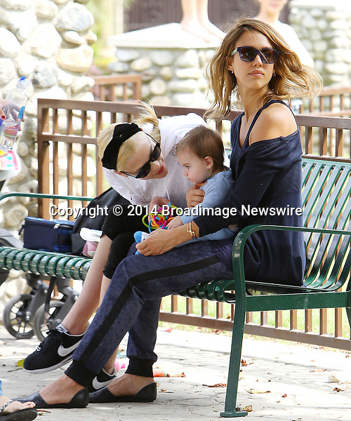 Pictured: Jaime King, James, Jessica Alba<br /> Mandatory Credit &copy; ACLA/Broadimage<br /> Jessica Alba and Jaime King at the Coldwater Canyon Park in Beverly Hills<br /> <br /> 3/29/14, Beverly Hills, California, United States of America<br /> <br /> Broadimage Newswire<br /> Los Angeles 1+  (310) 301-1027<br /> New York      1+  (646) 827-9134<br /> sales@broadimage.com<br /> http://www.broadimage.com