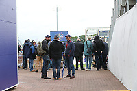Shot through the seating on the concourse, fans wait for news regarding re start during South Africa vs West Indies, ICC World Cup Cricket at the Hampshire Bowl on 10th June 2019