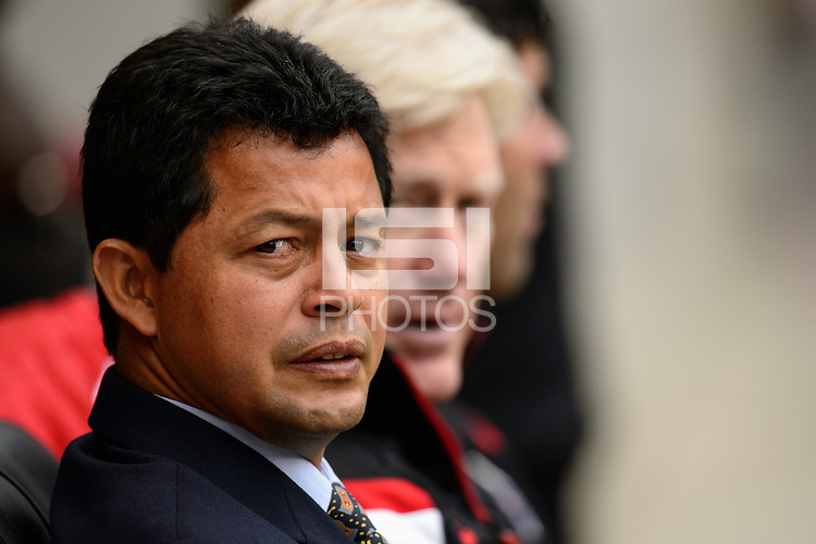 Chivas USA head coach Wilmer Cabrera prior to playing the New York Red Bulls . The New York Red Bulls and Chivas USA played to a 1-1 tie during a Major League Soccer (MLS) match at Red Bull Arena in Harrison, NJ, on March 30, 2014.