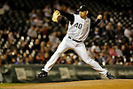 9 September 2006: Brian Fuentes, pitcher for the Colorado Rockies, on the mound against the Washington Nationals. The Rockies defeated the Nationals 11-8 at Coors Field in Denver, Colorado...Mandatory Photo Credit: Ed Wolfstein.