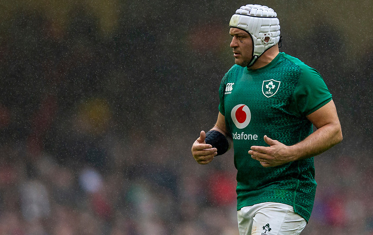 Ireland's Rory Best<br /> <br /> Photographer Bob Bradford/CameraSport<br /> <br /> Guinness Six Nations Championship - Wales v Ireland - Saturday 16th March 2019 - Principality Stadium - Cardiff<br /> <br /> World Copyright © 2019 CameraSport. All rights reserved. 43 Linden Ave. Countesthorpe. Leicester. England. LE8 5PG - Tel: +44 (0) 116 277 4147 - admin@camerasport.com - www.camerasport.com