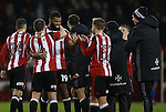 Ethan Ebanks-Landell of Sheffield Utd enjoys the win during the English League One match at the Bramall Lane Stadium, Sheffield. Picture date: November 22nd, 2016. Pic Simon Bellis/Sportimage